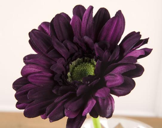 Dekoratif Yapay Çiçek Mor Gerbera 30cm