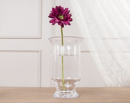 Dekoratif Yapay Çiçek Mor Gerbera 43cm