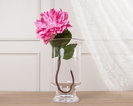 Dekoratif Yapay Çiçek Pembe Yıldız Çiçeği 60cm
