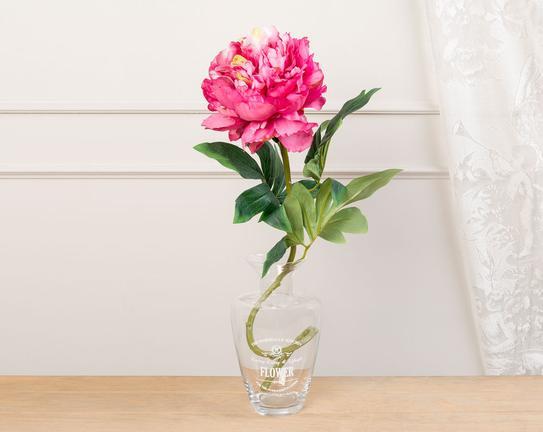 Dekoratif Yapay Çiçek Pembe Şakayık 77cm