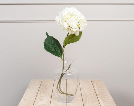 Dekoratif Yapay Çiçek Beyaz Ortanca 78cm