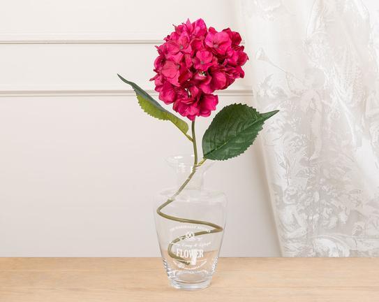 Dekoratif Yapay Çiçek Pembe Ortanca 78cm
