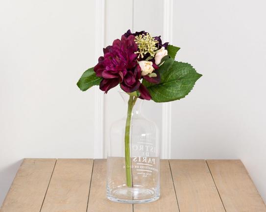 Dekoratif Yapay Çiçek Yıldız Çiçeği Buketi 30cm