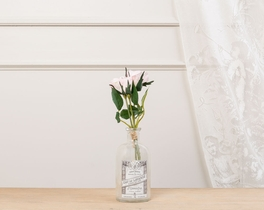Dekoratif Yapay Çiçek Bal Gülü 24cm