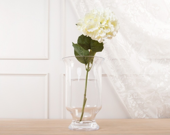 Dekoratif Yapay Çiçek Beyaz Ortanca 25cm
