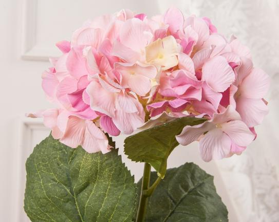 Dekoratif Yapay Çiçek Pembe Ortanca 66cm