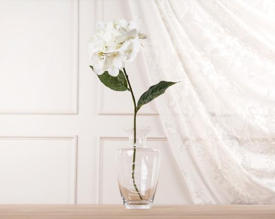 Dekoratif Yapay Çiçek Beyaz Ortanca 53cm