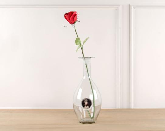 Dekoratif Yapay Çiçek Kırmızı Gül 60cm