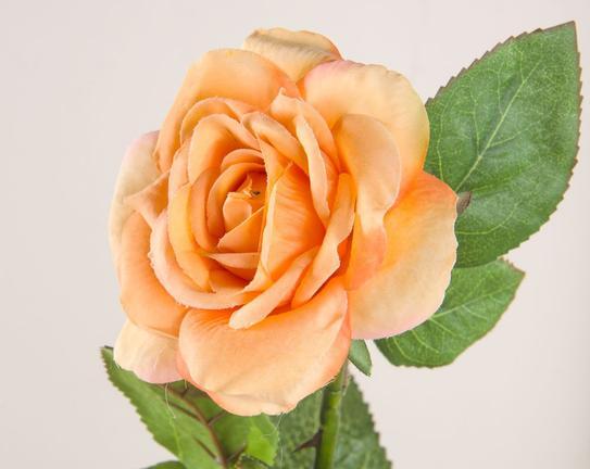 Dekoratif Yapay Çiçek Pudra Gül 47cm