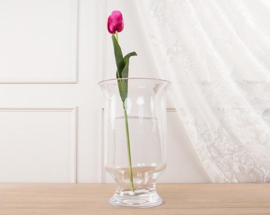 Dekoratif Yapay Çiçek Mor Lale 54cm