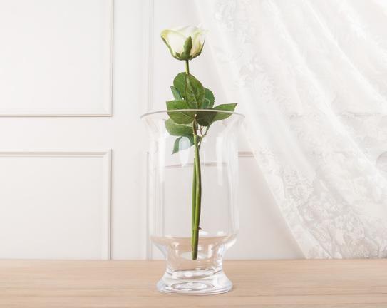 Dekoratif Yapay Çiçek - Beyaz Gül