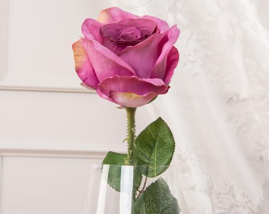 Dekoratif Yapay Çiçek - Eflatun Gül