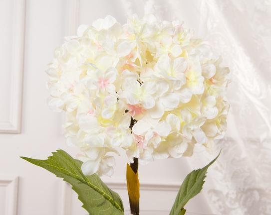 Dekoratif Yapay Çiçek - Beyaz Ortanca