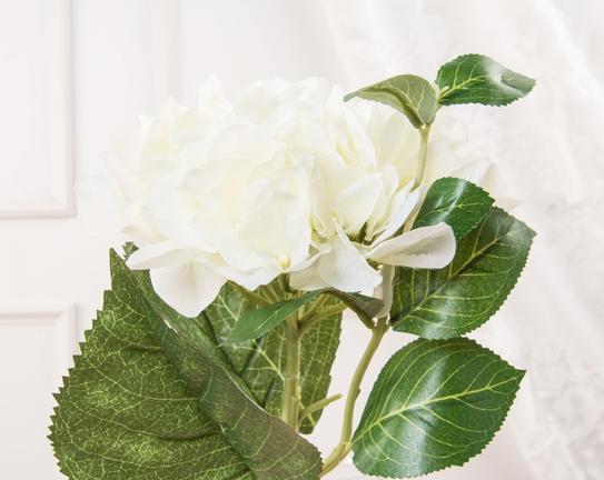 Dekoratif Yapay Çiçek Beyaz Ortanca 38cm