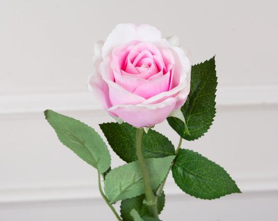 Dekoratif Yapay Çiçek Pembe Gül 31cm