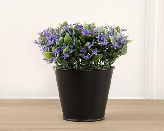 Dekoratif Yapay Çiçek Saksılı Biber Çiçeği 7cm