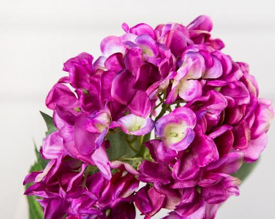 Dekoratif Yapay Çiçek Koyu Mor Ortanca 95cm