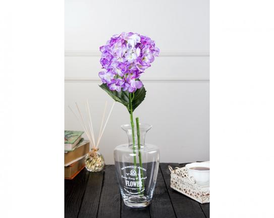 Dekoratif Yapay Çiçek Açık Mor Ortanca 95cm