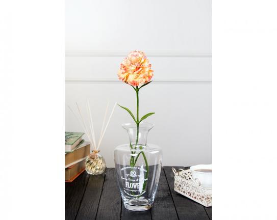 Dekoratif Yapay Çiçek - Turuncu Karanfil