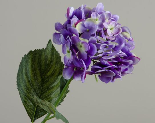 Dekoratif Yapay Çiçek Mor Ortanca 92cm