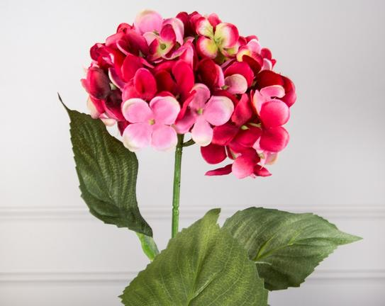 Dekoratif Yapay Çiçek Kırmızı Ortanca 92cm