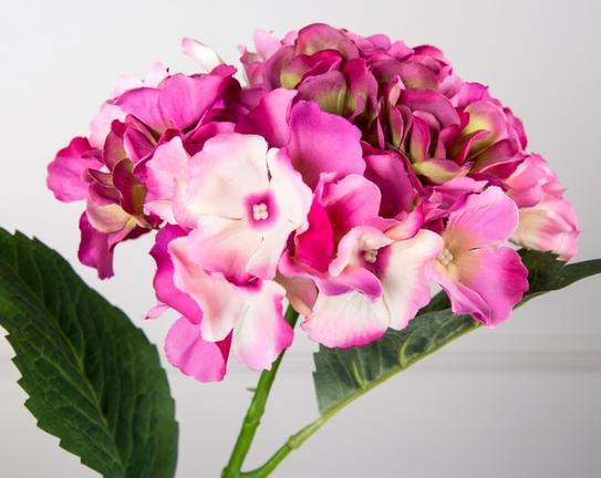 Dekoratif Yapay Çiçek Pembe Ortanca 55cm