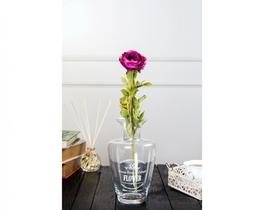 Dekoratif Yapay Çiçek Koyu Pembe Kamelya 81cm