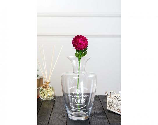 Dekoratif Yapay Çiçek Koyu Pembe İlkbahar Çiçeği 51cm