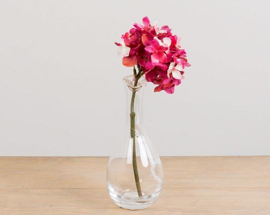 Dekoratif Yapay Çiçek Pembe Ortanca 30cm