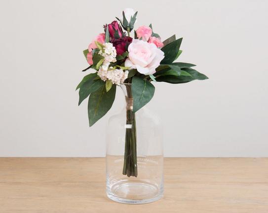 Dekoratif Yapay Çiçek Gül Buketi 30cm