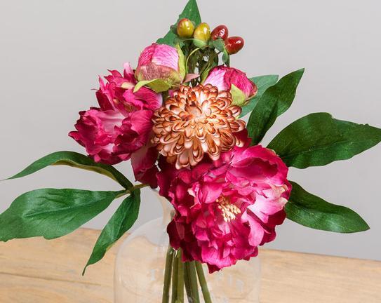Dekoratif Yapay Çiçek Buket Şakayık 25cm