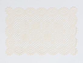 4lü Amerikan Servis Vinil Dikdörtgen Ekru 30x45cm