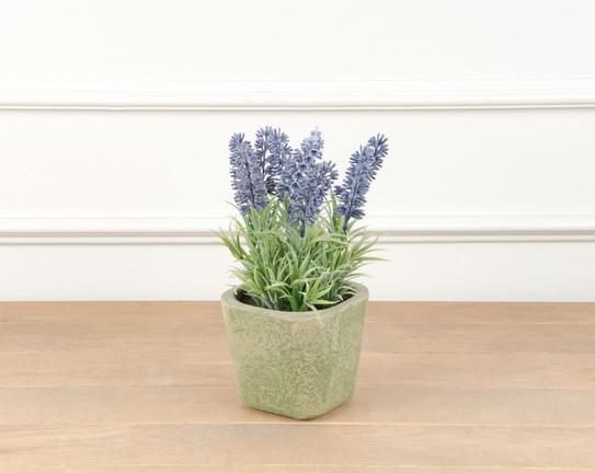 Dekoratif Yapay Çiçek Saksılı Lavanta 22cm