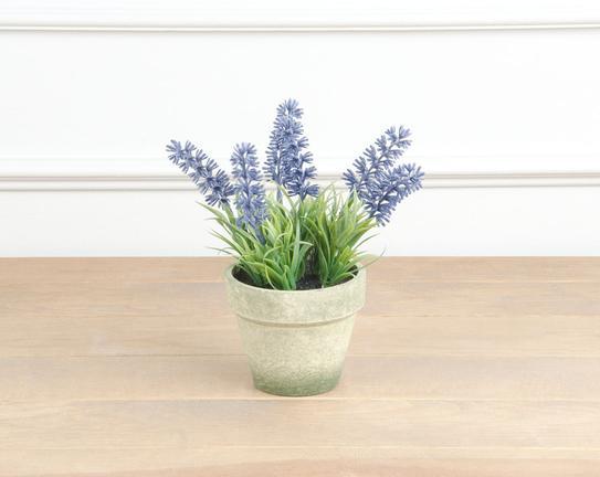 Dekoratif Yapay Çiçek Saksılı Lavanta 20cm