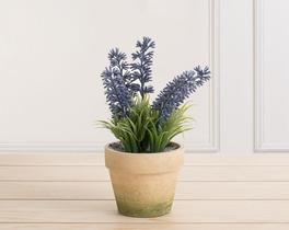 Dekoratif Yapay Çiçek Saksılı Lavanta 16cm