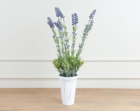 Dekoratif Yapay Çiçek Saksılı Lavanta 53cm