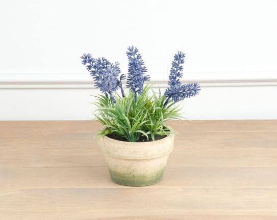Dekoratif Yapay Çiçek Saksılı Lavanta 18cm