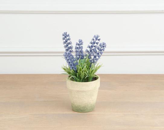 Dekoratif Yapay Çiçek Saksılı Lavanta 12cm