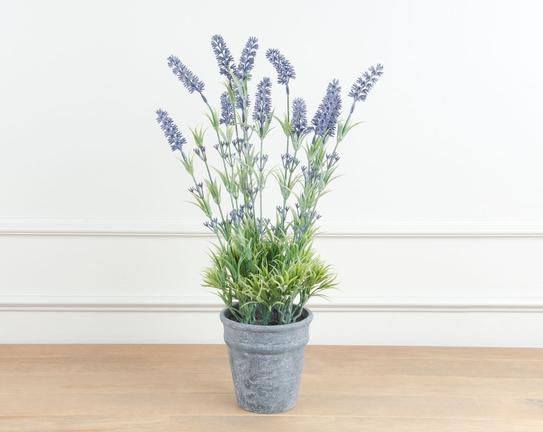 Dekoratif Yapay Çiçek Saksılı Lavanta 52cm