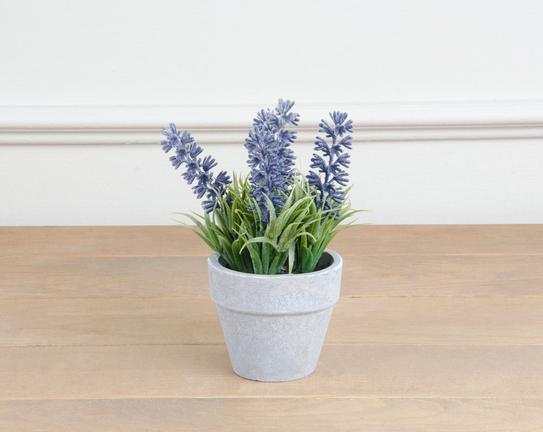 Dekoratif Yapay Çiçek Saksılı Lavanta 15cm
