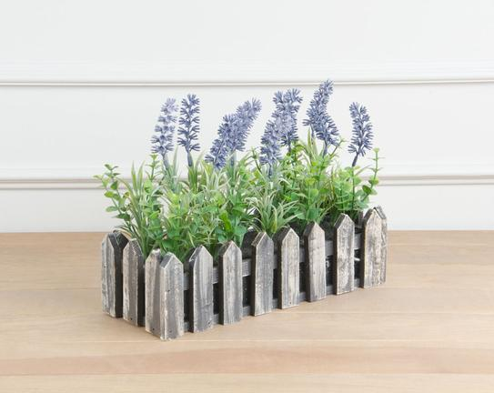 Dekoratif Yapay Çiçek Saksılı Lavanta 21cm