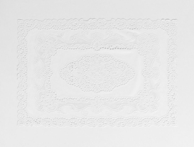 4'lü Vinil Dikdörtgen Amerikan Servis - Beyaz