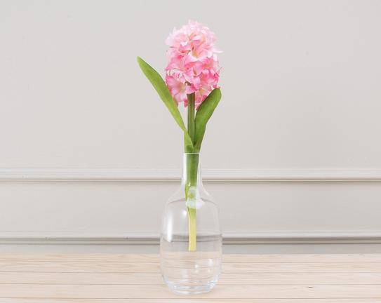 Dekoratif Yapay Çiçek Pembe Sümbül 33cm