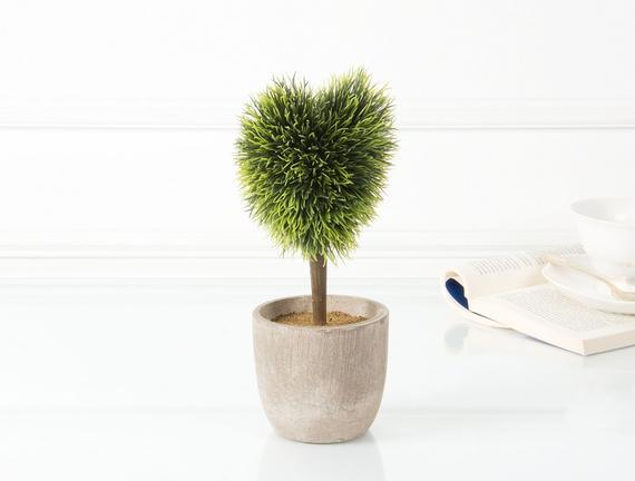 Dekoratif Saksılı Bitki 15x7x27cm