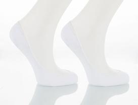 Bayan 2li Babet Çorap - Beyaz/Beyaz
