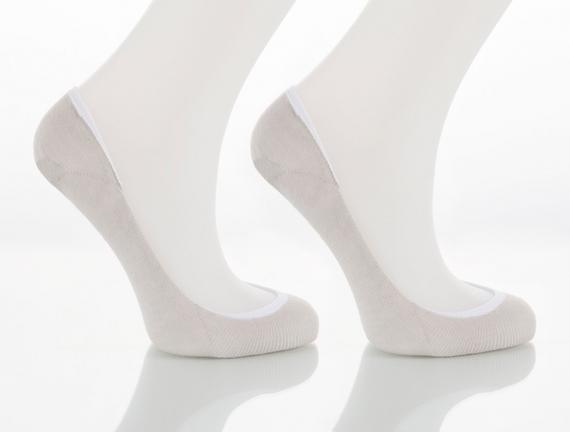 2'li Kadın Babet Çorabı - Taş / Taş