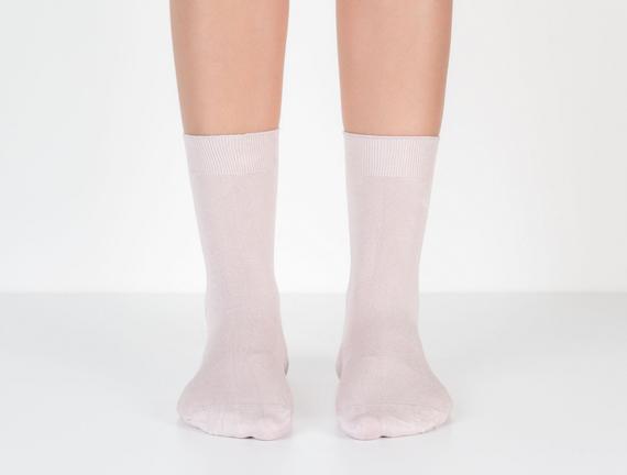 Düz Soket Kadın Çorabı - Açık Mürdüm