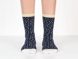 Simli Yıldızlı Bayan Çorap - Lacivert