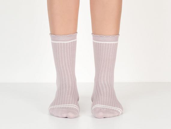 Derby Kadın Soket Çorap - Mürdüm