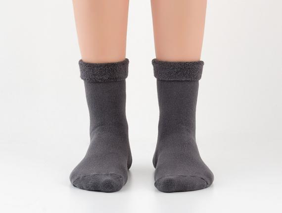 Kıvrık Havlu Kadın Çorabı - Antrasit